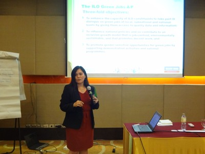 ILO Initiatives in Asia Pacific on Green Jobs - Lurraine Villacorta
