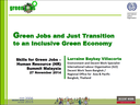 New Presentation: Green Jobs and Just Transition to an Inclusive Green Economy