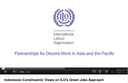 Indonesian constituents' views on ILO's Green Jobs approach