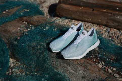 Adidas unveils shoes made from ocean plastic trash