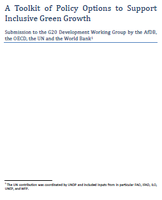 A toolkit of policy options to support inclusive green growth