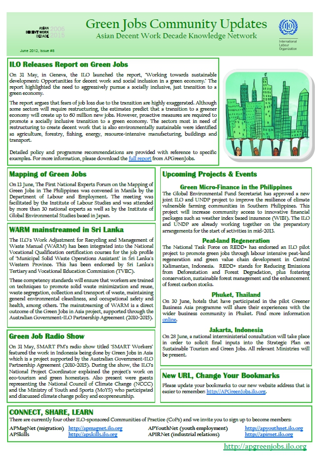 Asia-Pacific Green Jobs Community Update - Issue 8