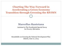 Charting The Way Forward in Accelerating a Green Economy Transition through Greening the RPJMN