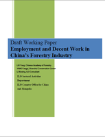 Employment and decent work in China's forestry industry (Draft)