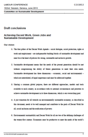 ILC 2013 - Draft Conclusions: Achieving Decent Work, Green Jobs and Sustainable Development