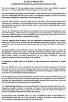 ILC 2013 - One-page summary of the Report V (Sustainable development, decent work and green jobs) (ILO HQ, 2013)