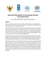 Indonesian Roundtable on Greening the National Development Plan