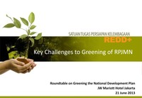 Key Challenges to Greening of RPJMN