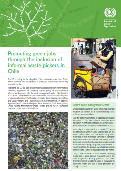 Promoting Green jobs through inclusion of informal waste pickers in Chile