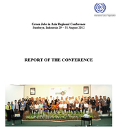 Report of the Green Jobs in Asia Regional Conference