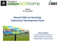 Round-Table on Greening Indonesia's Development Plans