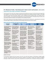 PV Technology, Production and Cost Outlook: 2012-2016