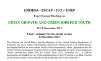 Summary of the Expert Group Meeting on Green Growth and Green Jobs for Youth